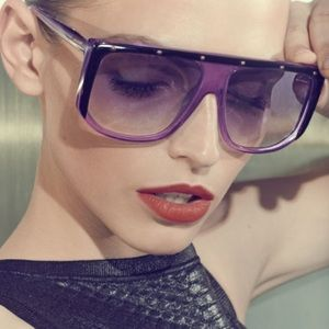 Gucci Purple Studded Sunglasses
